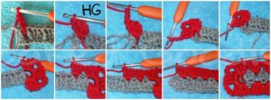 how to crochet granny rectangle (Round 2)