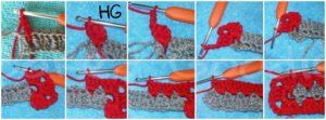 how to crochet granny rectangle (Round 2)
