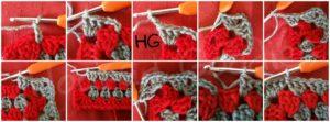 how to crochet granny rectangle (Round 3)
