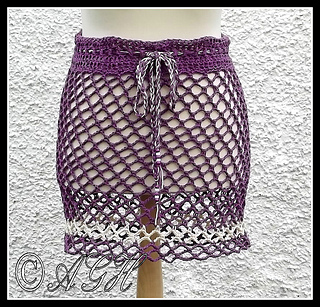 Crochet Skirts Free Patterns-Beach Skirt or Poncho