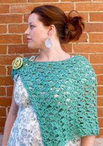 Crochet Shrug Free Patterns-Beautiful Crochet Spring Wrap by Sarah Anderson Designs