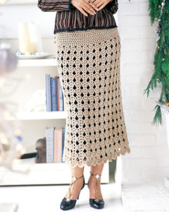 Crochet Skirts Free Pattern-Easy Scalloped Skirt