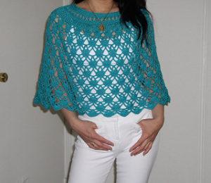 Crochet Shrug Free Patterns-Beautiful Elegant Lace (Poncho) by Dot Matthews