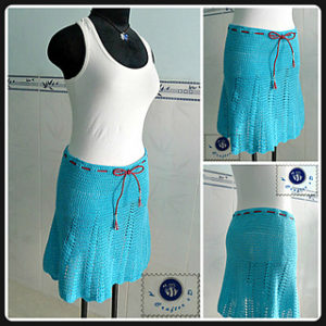 Crochet Skirts Free Pattern-Flaunty Flared Skirt