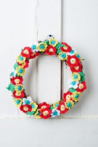 Crochet Wreaths-Floral Wreath