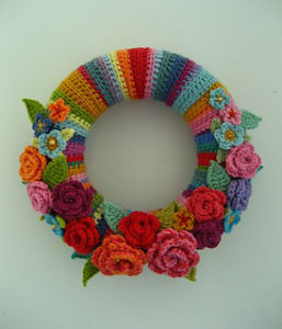 Crochet Wreath-May Rose Wreath
