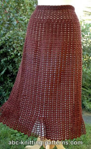 Crochet Skirts Free Pattern-Shell Summer Skirt