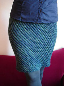 Crochet Skirts Free Patter-Slanted Skirt