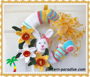 Crochet Wreath-Spring Wreath 14-136