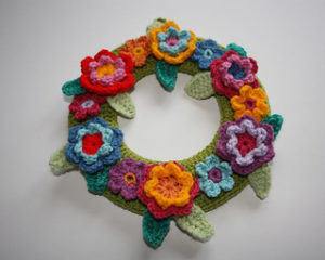 Crochet Wreaths-Springtime Wreath