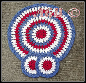 Table Set-crochet patterns for 4th July