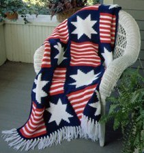 Afghan-crochet patterns for 4th July