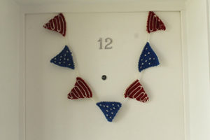 American flag bunting-crochet patterns for 4th July