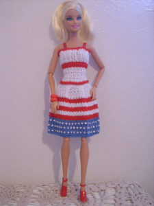 Barbie Dress-crochet patterns for 4th July