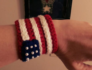 Bracelet & Cuff1-crochet patterns for 4th July