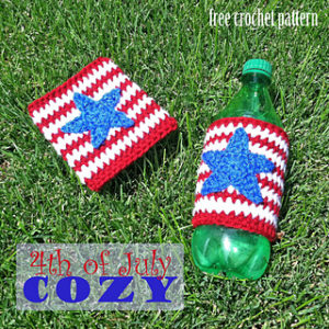 Bottle Cozy-crochet patterns for 4th July