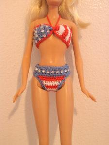 Doll Bikini-crochet patterns for 4th July