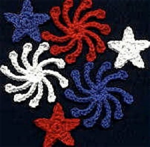 Fridgies-crochet patterns for 4th July