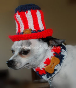 Pet Hat-crochet patterns for 4th July