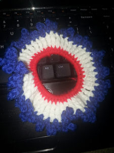 Scrunchie-crochet patterns for 4th July