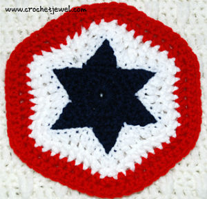 Star Potholder-crochet patterns for 4th July