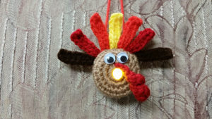 Lighted Turkey ornament-Crochet Turkey Patterns