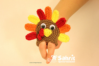 Turkey Applique Finger Puppet-Crochet Turkey Patterns