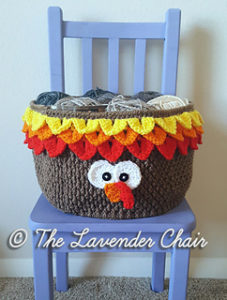 Turkey Yarn Basket-Crochet Turkey Patterns