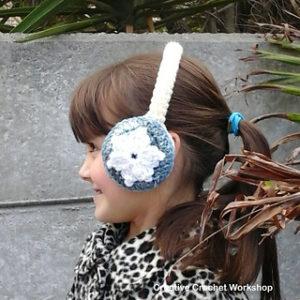 Creative Crochet Ideas-Snow Flower Ear Warmers