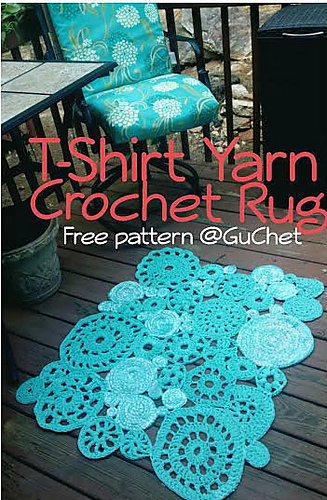 13 Free Crochet Rug Patterns From T Shirt Yarn