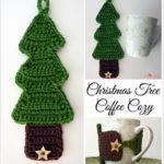 Free Easy Crochet Patterns for Christmas Themed Mug Cozy