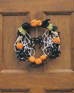 Halloween Crochet Wreaths