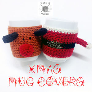 Free Easy Crochet Patterns for Christmas Themed Mug Cozy