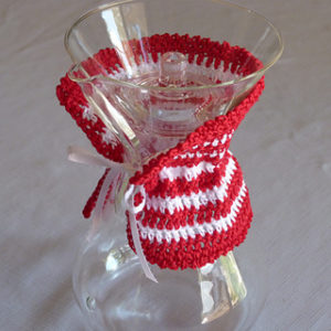 Crochet Peppermint Christmas Home Decor