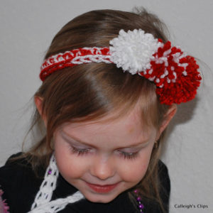 Crochet Peppermint Christmas Headband