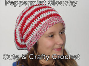 Crochet Peppermint Christmas Beanie