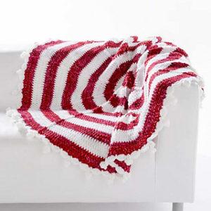 Crochet Peppermint Christmas Blanket