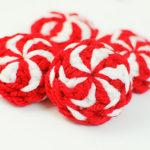 Crochet Peppermint Christmas Ornaments