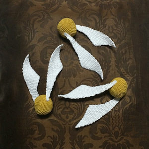 Free Crochet Patterns Harry Potter Golden Snitch