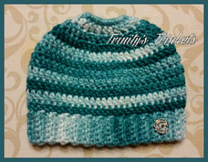 Messy Bun Hat Free Crochet Patterns