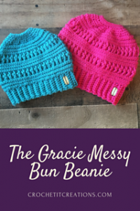 77 Free Crochet Patterns for Messy Bun Hat to Make Your Winter Colourful 83f56b72863