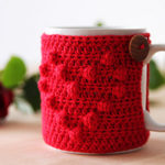 Free Easy Crochet Patterns for Valentine's Day Mug Cozy