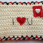Free Patterns of Crochet Envelope for Valentine's Day