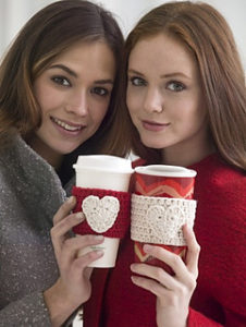 Free Easy Crochet Patterns for Valentine's Day Cup Cozy