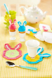 Free Crochet Patterns for Bunny Easter Crochet Coasters