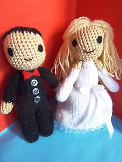 Pattern Crochet Bride and Broom, Wedding Couple dolls Amigurumi ... | 320x240