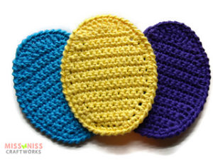 Free Crochet Patterns for Egg Easter Crochet Coasters