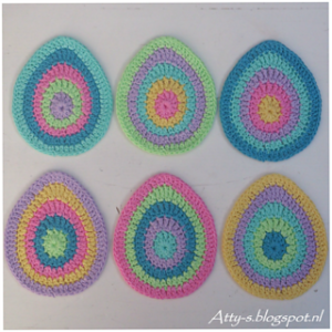 Free Crochet Patterns for Egg Easter Crochet Coasters