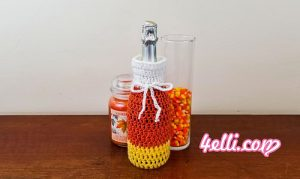 Crochet Candy Corn Halloween Cup Cozy, Mug Cozy, Jar Cozy, Bottle Cozy