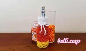 Crochet Candy Corn Halloween Cup Cozy, Mug Cozy, Jar Cozy,Bottle Cozy